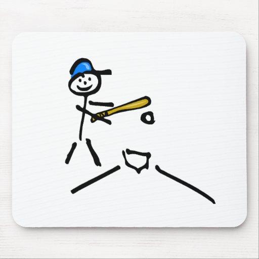 Béisbol (figura del palillo) tapete de raton