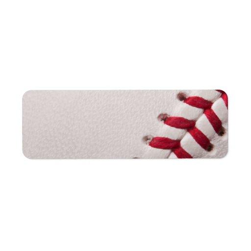 Béisbol - fondo de los béisboles de la plantilla d etiqueta de remite