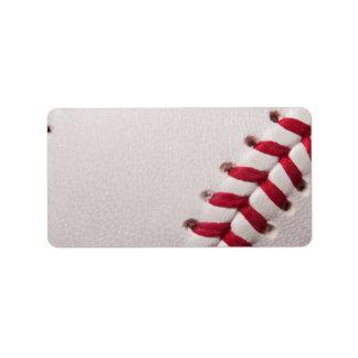 Béisbol - fondo de los béisboles de la plantilla d etiquetas de dirección