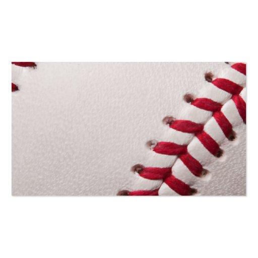 Béisbol - fondo de los béisboles de la plantilla d plantilla de tarjeta de negocio