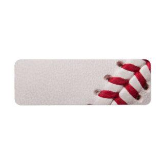Béisbol - fondo de los béisboles de la plantilla etiqueta de remite