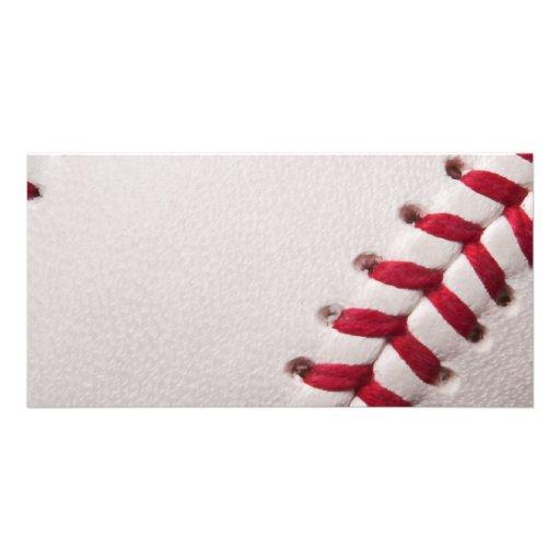 Béisbol - fondo de los béisboles de la plantilla tarjetas fotograficas personalizadas