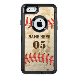 Béisbol fresco claro Iphone 6 Otterbox del vintage Funda OtterBox Defender Para iPhone 6