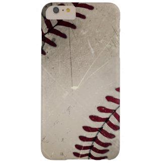 Béisbol fresco del Grunge del vintage Funda De iPhone 6 Plus Barely There