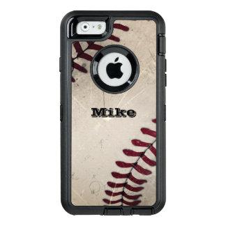 Béisbol fresco del Grunge del vintage Funda OtterBox Defender Para iPhone 6