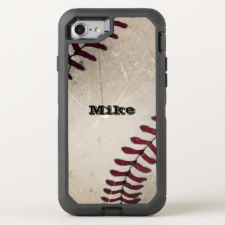 Béisbol fresco del Grunge del vintage Funda OtterBox Defender Para iPhone 7