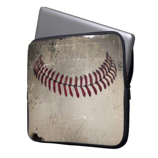 Béisbol fresco del Grunge del vintage Funda Portátil