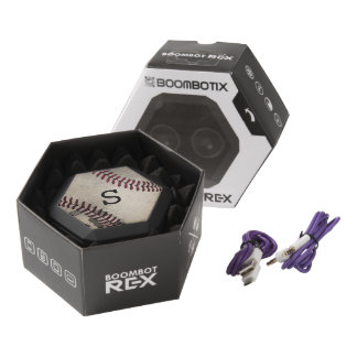 Béisbol fresco del vintage del Grunge Altavoces Bluetooth Negros Boombot REX