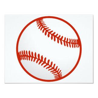 """Béisbol fresco para los jerseys de Tema Invitación 4.25"""" X 5.5"""""""