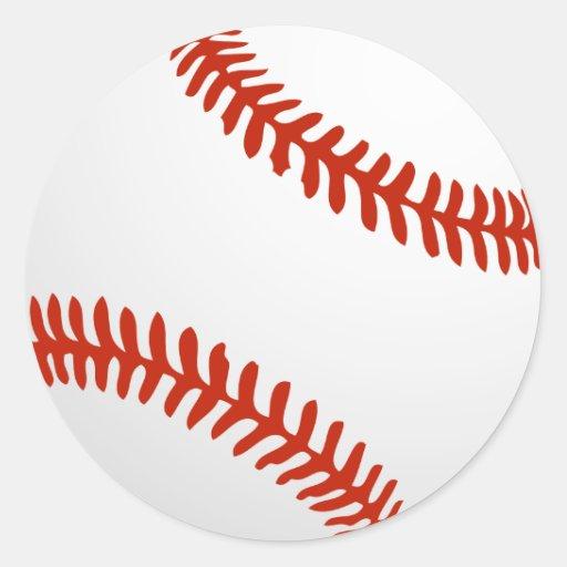 Béisbol fresco para los jerseys de Tema Pegatina Redonda