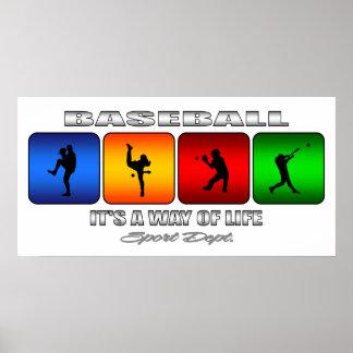 Béisbol fresco póster