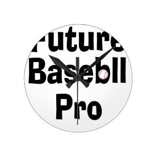 Béisbol futuro favorable reloj redondo mediano