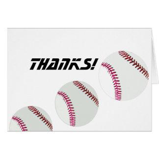 ¡Béisbol-Gracias! Felicitacion