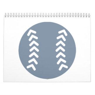Béisbol gris calendarios