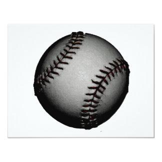 """Béisbol gris/gris invitación 4.25"""" x 5.5"""""""
