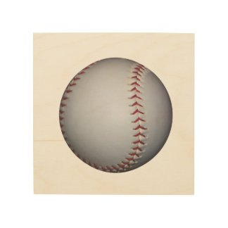 Béisbol Impresión En Madera