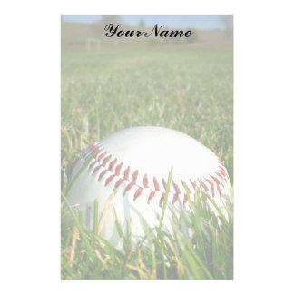 Béisbol inmóvil papelería personalizada