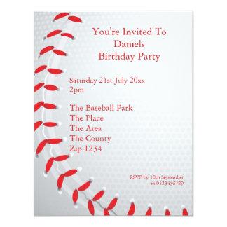 Béisbol Invitación 10,8 X 13,9 Cm