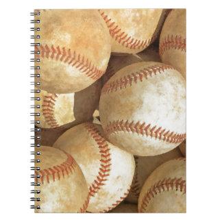 Béisbol Libro De Apuntes Con Espiral