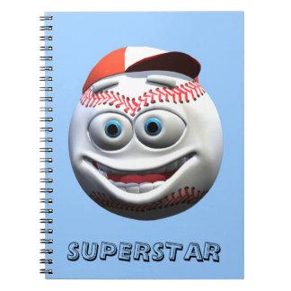 Béisbol Libros De Apuntes Con Espiral