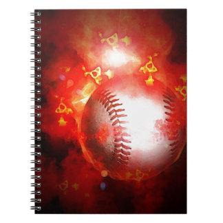 Béisbol llameante cuaderno