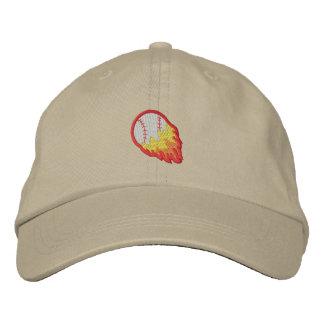Béisbol llameante gorra de béisbol bordada