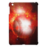 Béisbol llameante iPad mini funda