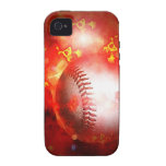 Béisbol llameante iPhone 4/4S carcasa