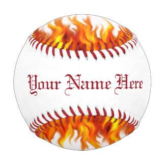 Béisbol llameante personalizado