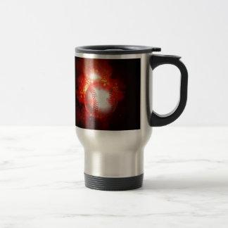 Béisbol llameante taza de café