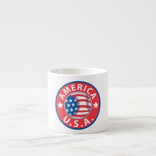 Béisbol los E.E.U.U. de América Taza Espresso
