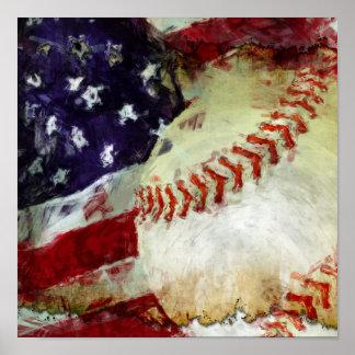Béisbol los E.E.U.U. Posters