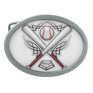 béisbol M.V.P Hebilla Cinturon Oval