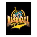 Béisbol mi juego tarjetas postales