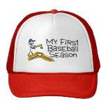 Béisbol mi primera temporada de béisbol (figura de gorras