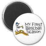 Béisbol mi primera temporada de béisbol (figura de imán