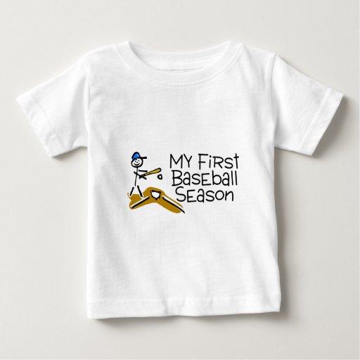 Béisbol mi primera temporada de béisbol playera de bebé