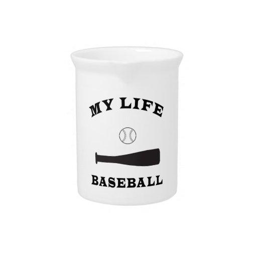 Béisbol mi vida jarra de beber