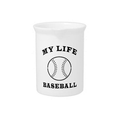 Béisbol mi vida jarras de beber