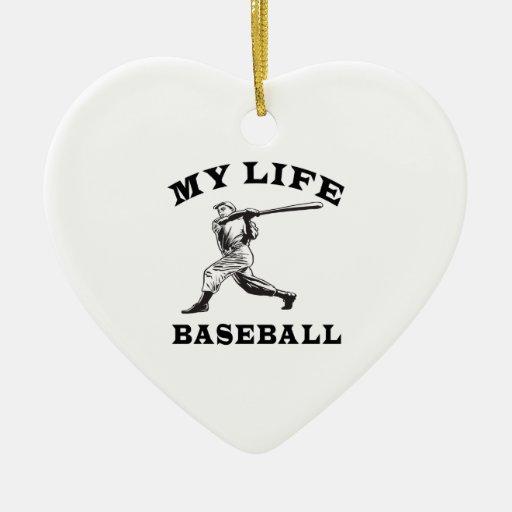 Béisbol mi vida ornamente de reyes