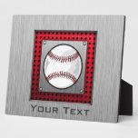 Béisbol; Mirada de aluminio cepillada Placas Con Fotos