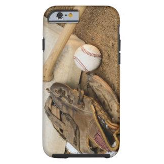 Béisbol, mitón, y palo en base funda para iPhone 6 tough