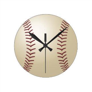 Béisbol modificado para requisitos particulares reloj redondo mediano