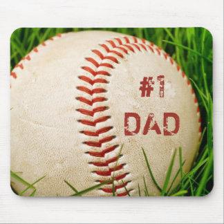 Béisbol Mousepad del papá #1 Alfombrilla De Ratón