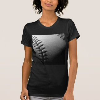 Béisbol negro y blanco del primer camisetas