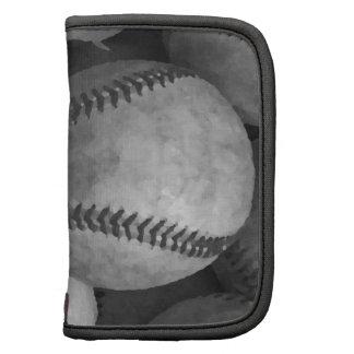Béisbol negro y blanco organizadores