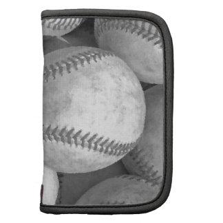 Béisbol negro y blanco planificador