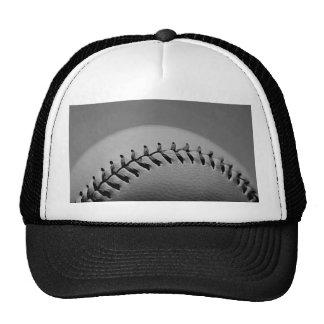 Béisbol negro y blanco gorros