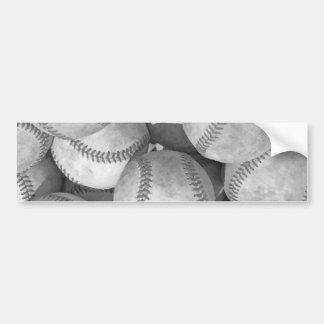 Béisbol negro y blanco pegatina para auto