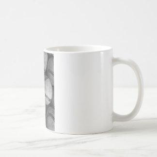 Béisbol negro y blanco tazas de café